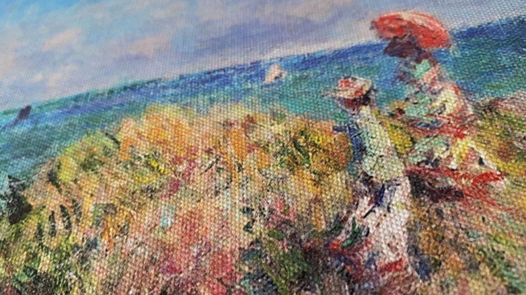 プールヴィルの断崖の上の散歩 モネ